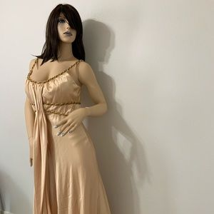 14 Alex Evennings gold dress